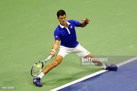Djokovic wide fh reach